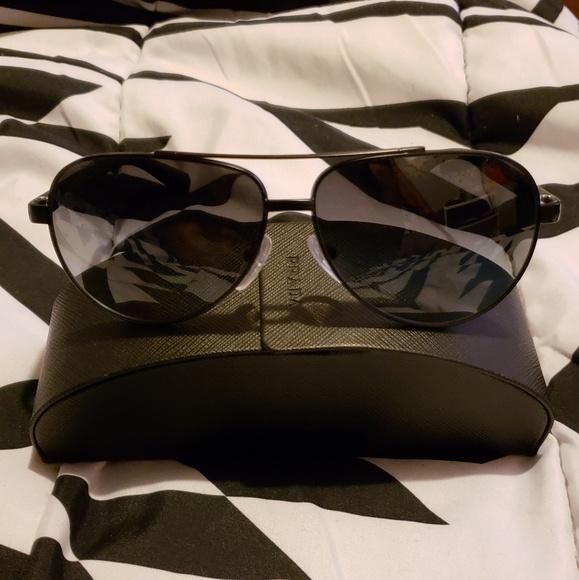 866e06b3bde Authentic Men s Prada SPS 51N Polarized Sunglasses